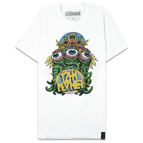 12th Planet Alien Front White T Shirt