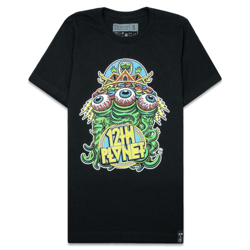 12th Planet Alien Front Black T Shirt