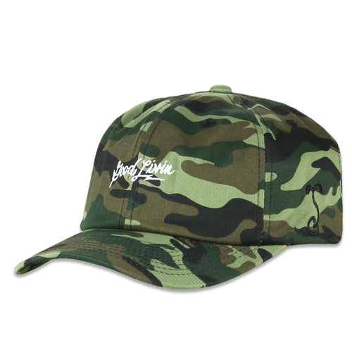 Good Livin Script Camo Dad Hat