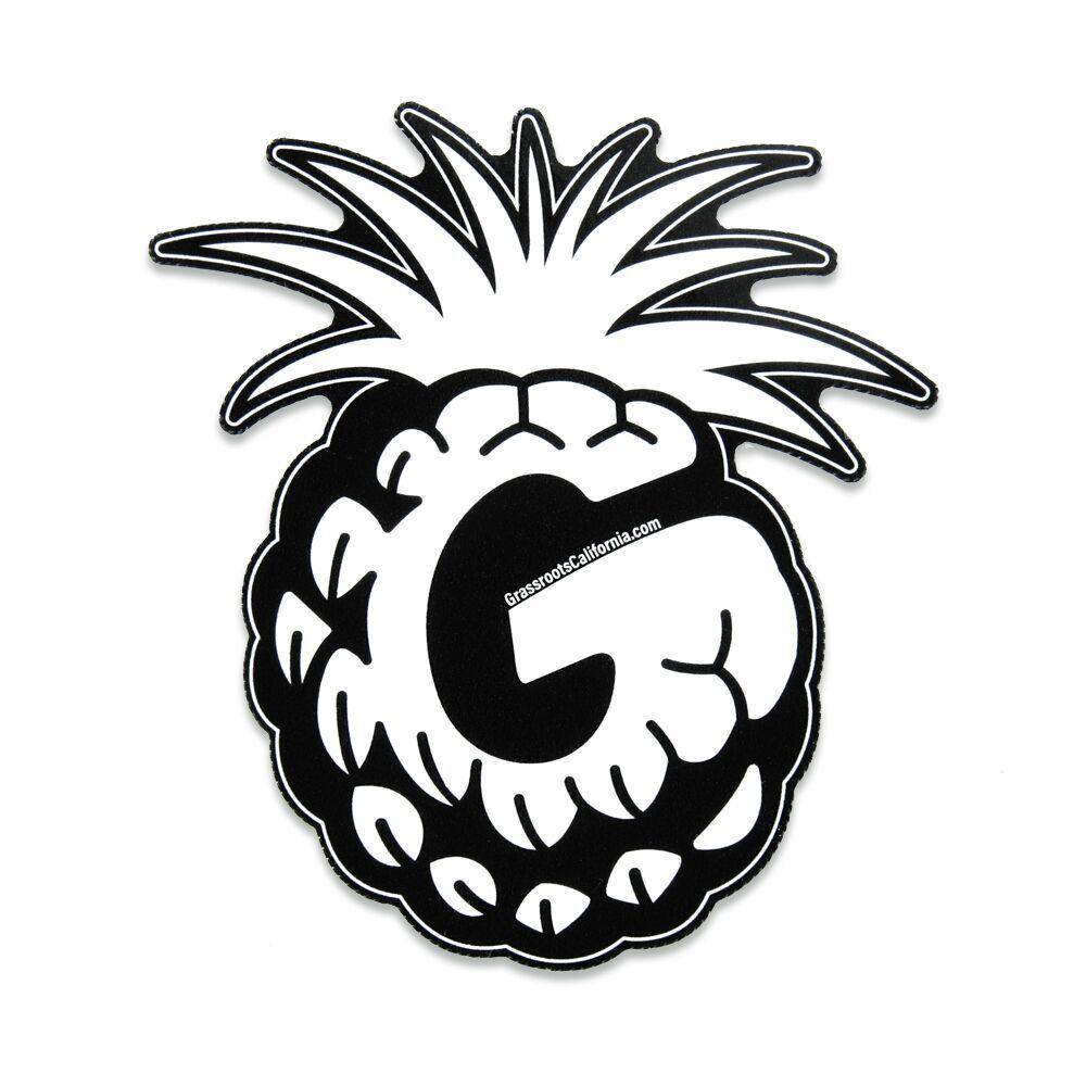 Good Livin Pineapple Black White Sticker – Grassroots California for Clipart Pineapple Black And White  110zmd