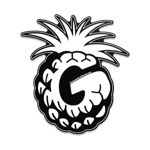 Good Livin Pineapple Black White Sticker