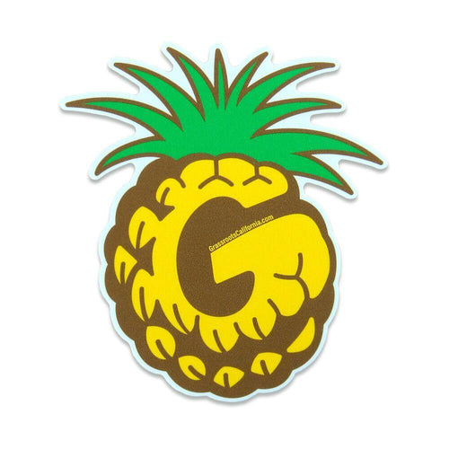 Good Livin Pineapple Color Sticker