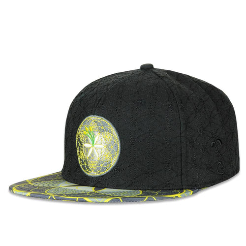 Flower of Life Black Fitted