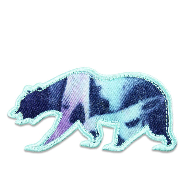 Blue Purple Tie Dye Removable Bear Patch