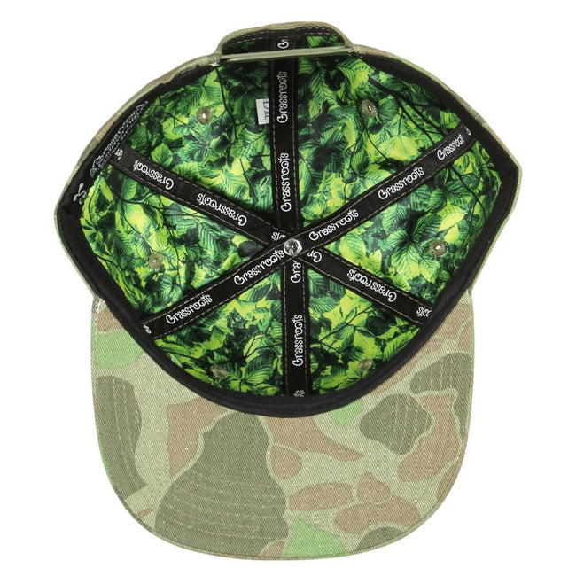 Removable Bear Distressed Camo Snapback