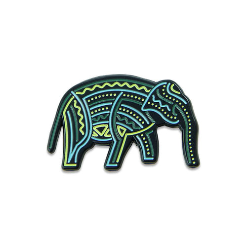 9th Anniversary Elephant Ocean Pin