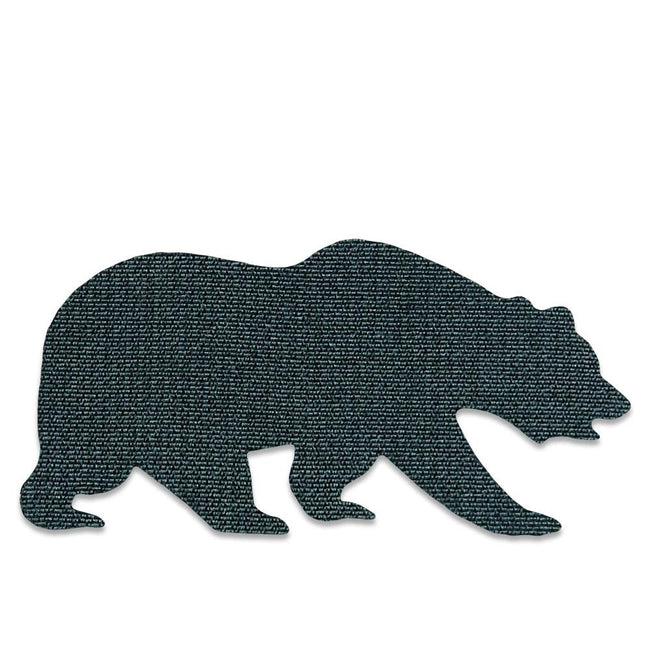 Brown Suede Removable Bear Patch