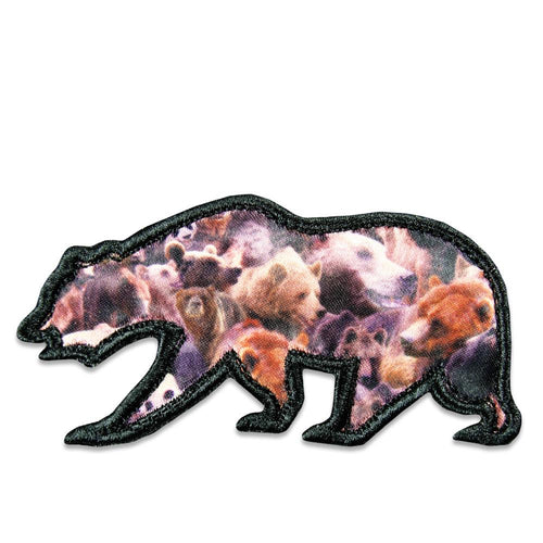 Real Bear Removable Bear Patch
