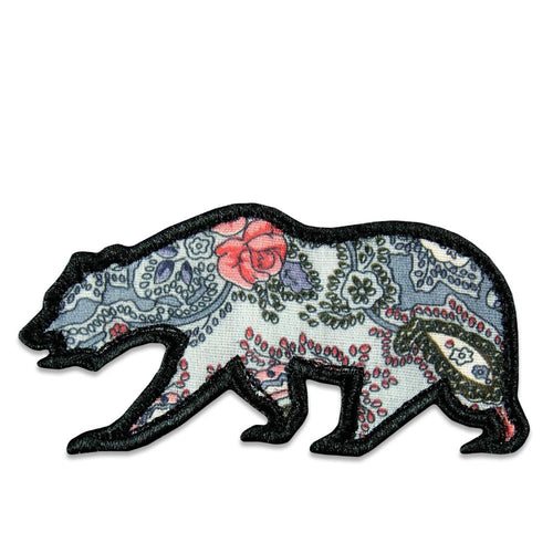 Gray Paisley Removable Bear Patch