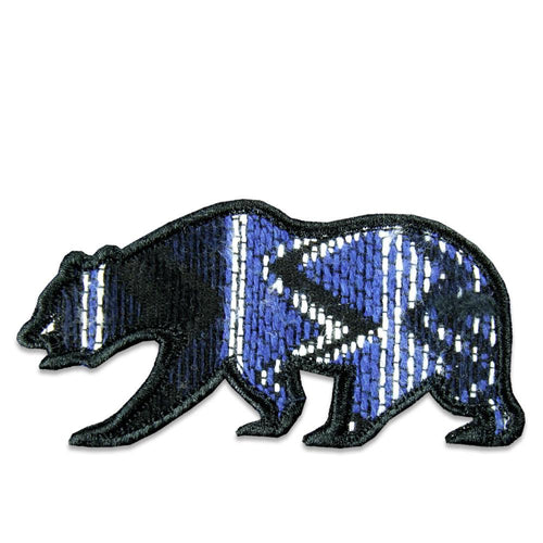 Parka Blue Removable Bear Patch