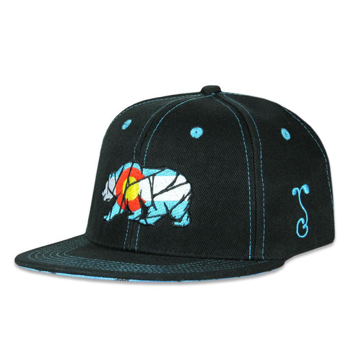 Kids Colorado Mosaic Bear Black Snapback