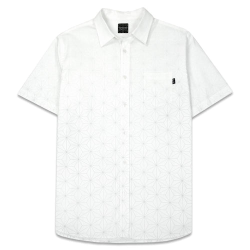 Sacred Geometry White Button Up Shirt