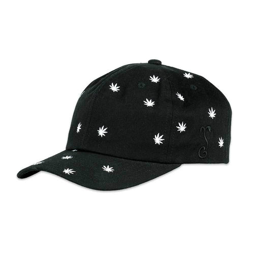 Allover Weed Black Dad Hat