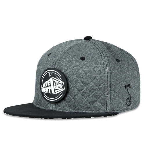 f8917ccd96612 Late Night Radio Quilted Gray Snapback Hat