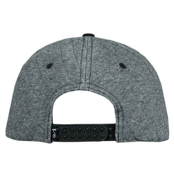 faec3e8f4cded Late Night Radio Quilted Gray Snapback Hat – Grassroots California