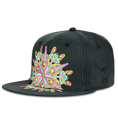 Jerry Garcia Black Mandala Fitted Hat