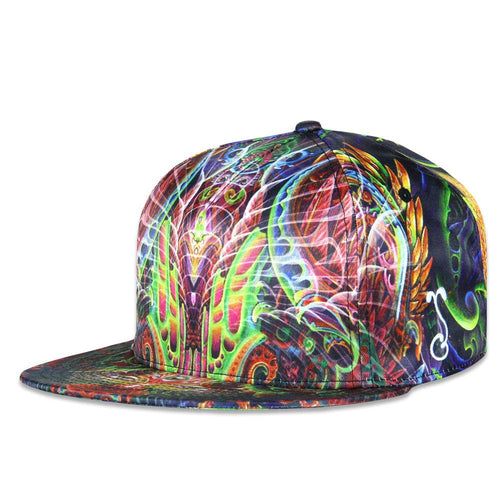Luke Brown Fractal Feline Fitted Hat