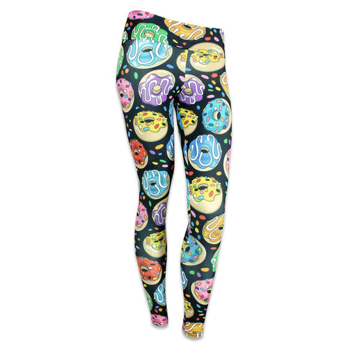 KGB Glass Rainbow Donuts Yoga Pants
