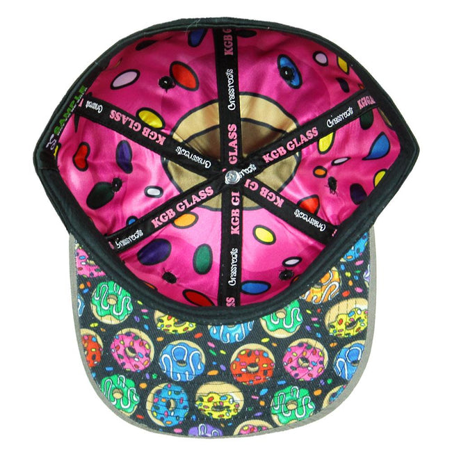 KGB Glass Pink Donut Black Fitted Hat