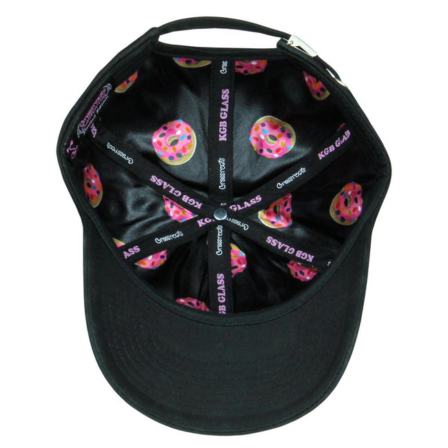 KGB Glass Pink Donut Black Dad Hat