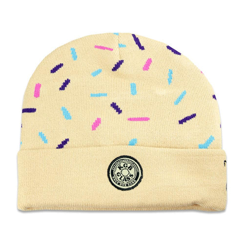 KGB Glass Sprinkles Donut Tan Beanie