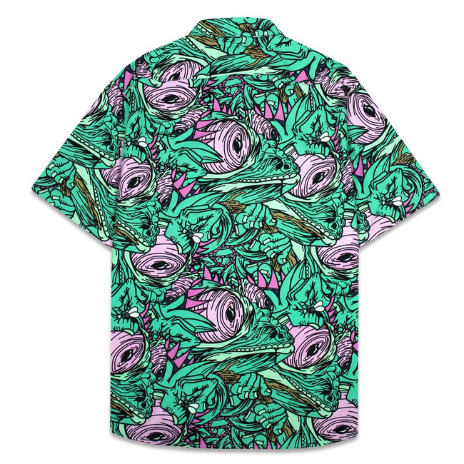 Aaron Brooks Chameleon Aqua Button Up Shirt