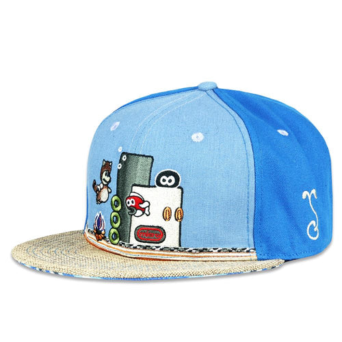 Micros Workshop Underwater Blue Fitted Hat