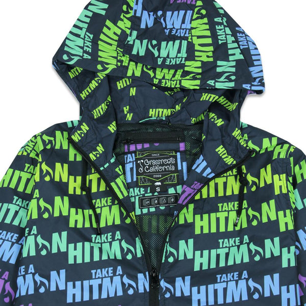Hitman Glass Black Neon Windbreaker