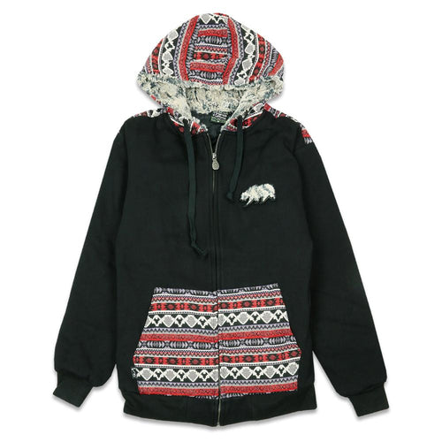 Removable Bear Forage Zip Up Hoodie
