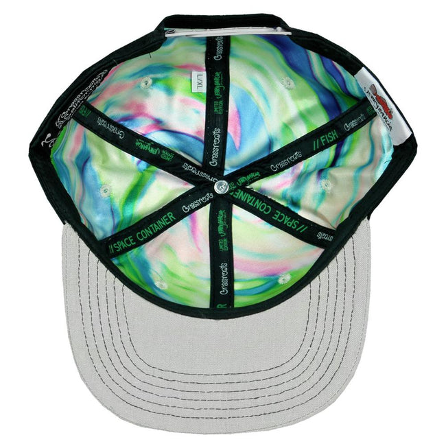 Jerry Garcia Removable Fish Black Snapback Hat