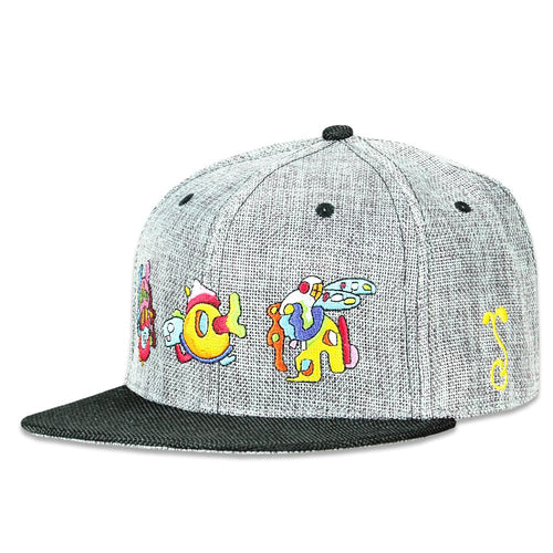 2be5569b74477 Jerry Garcia Space Container Party Gray Snapback Hat