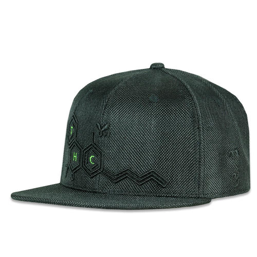 THC Bee All Black Snapback Hat