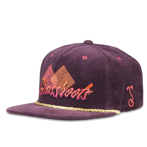 Danger Zone Script Purple Zipperback Hat