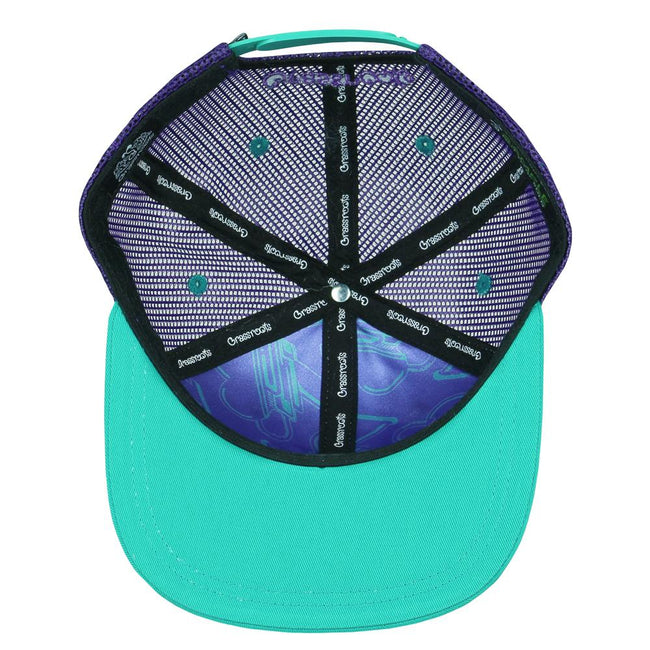 Freestyle Badge Purple Trucker Snapback Hat
