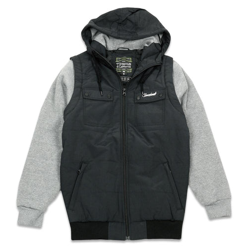 Midnight Gray Insulated Vest Hoodie