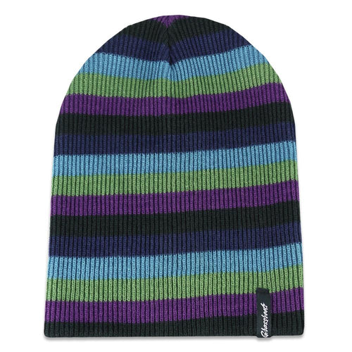 Berry Striped Slouch Beanie