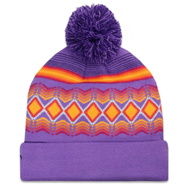 Freestyle Full Send Purple Pom Beanie