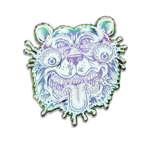 Jimbo Phillips GRC Bear Rainbow Pin