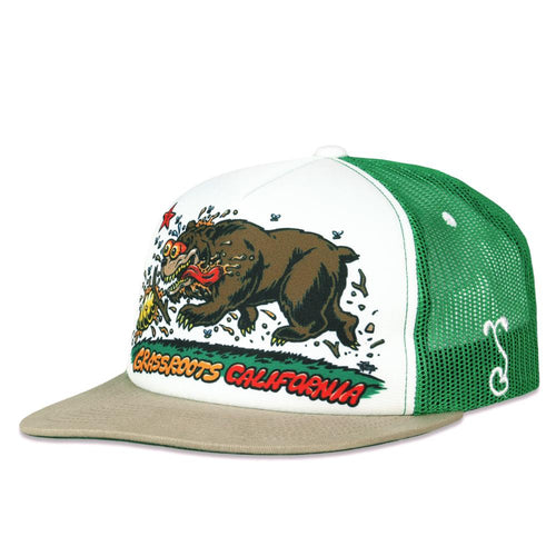 Jimbo Phillips Cali Bear Green Trucker Snapback Hat