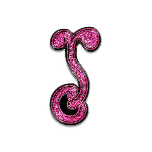 G Sprout Glitter Flamingo Pin