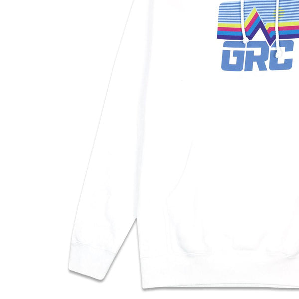 Freestyle Badge White Heavyweight Pullover Hoodie