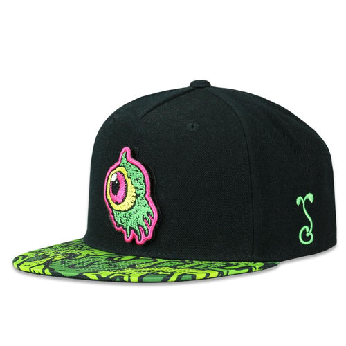DiFabbio Removable Glops Black Snapback Hat