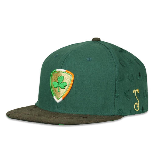 Shamrock Badge Green Snapback Hat