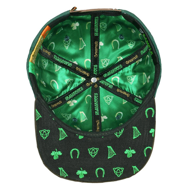 Shamrock Badge Green Snapback Hat 126361f2c017