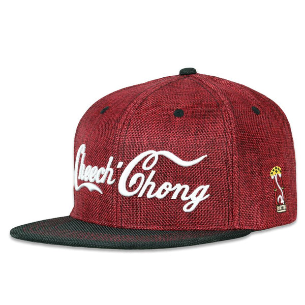 Cheech and Chong Script Red Snapback Hat