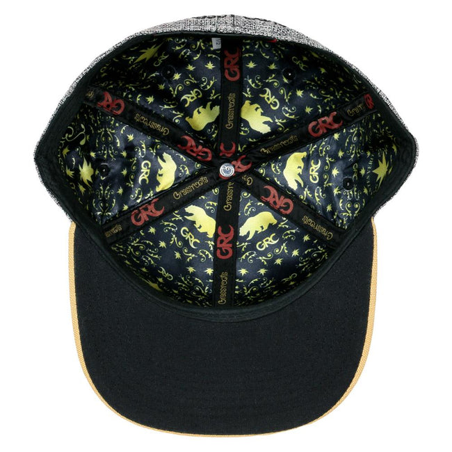 Rasta Gold Bear Fitted Hat