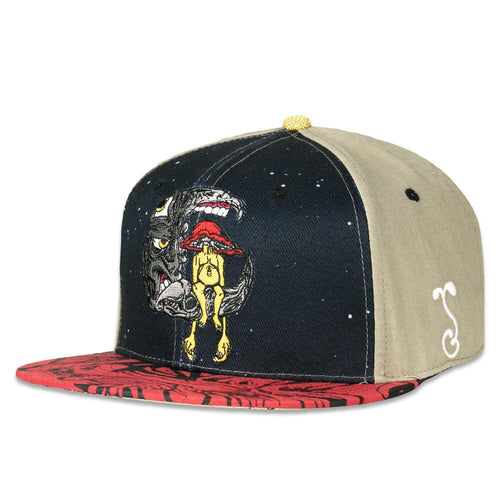 Aaron Brooks Lunar Meets Fungus Fitted Hat