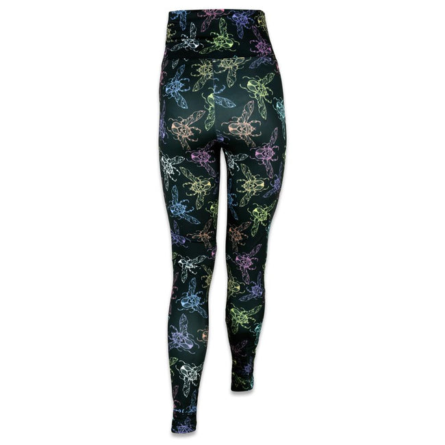 Ellie Paisley Love Bug Black Yoga Pants