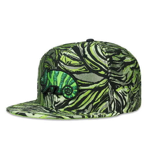 Removable Bear Green Chameleon Fitted Hat