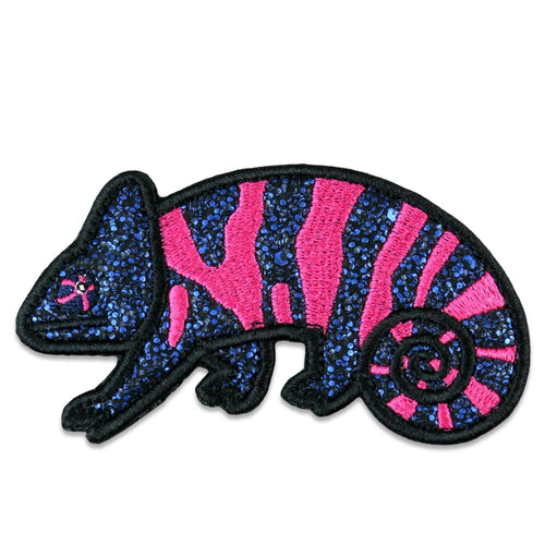 Pink Chameleon Removable Patch